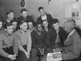 Unemployed Men Attending a Meeting of the Workers' Alliance Council in 1936 Photo