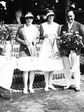 Helen Wills (Left), Won the Woman's Singles U.S. Lawn Tennis Championship, Aug. 1929 Photo
