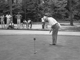 President Dwight Eisenhower on a Putting Green of a Golf Course Photo