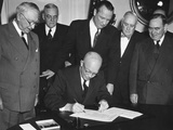 President Eisenhower Signs House Joint Resolution 159 Photo