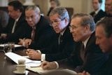 President George W. Bush Meets with His Cabinet on Oct. 10, 2001 Photo
