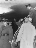 President Eisenhower Kisses First Lady Mamie Upon Her Return from Phoenix, Arizona Photo