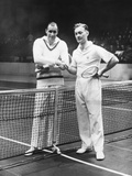 Bill Tilden (Left) and George Martin Lott's before their Madison Square Garden Match Photo