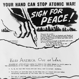 Anti-War Leaflet and Petition Distributed in Cleveland by American Communists in 1950 Photo