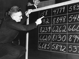 Brig. Gen. Lewis B. Hershey Calling the First 15 Numbers Called in Draft Lottery Photo