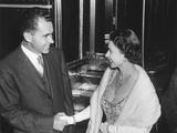 Queen Elizabeth II Shaking Vice President Richard Nixon's Hand Photo