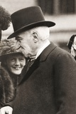 J.P. Morgan Attending a Children's Theater Performance of His Granddaughter. Ca. 1912 Photo