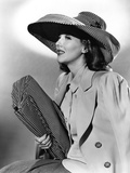 Jean Parker, Modeling a Matching Hat and Handbag of Black and White Checks, 1941 Photo
