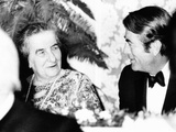 Golda Meir, Prime Minister of Israel Dines with Actor Gregory Peck, Oct Photo