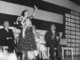 Mamie Eisenhower Waves to the Republican Crowd at the Election Night Victory Party Photo
