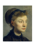 Portrait of a Young Woman. 1867 Giclee Print by Edgar Degas
