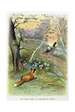 The Two Rats, Fox, and Egg. La Fontaine's Fables, Illus Giclee Print by Gaston Gelibert