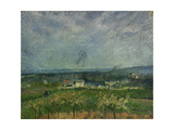 Landscape in Pontoise Giclee Print by Camille Pissarro