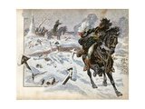 Battle of Eylau, Napoleon Orders Murat to Charge Russian Army Giclee Print by Jacques de Breville