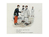 Mes Campagnes, 1896, Recruits Assigned to Tasks According to their Skills Giclee Print by Albert Guillaume