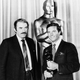 Cliff Robertson (Right) Receives a Belated Best Actor 'Oscar' for His Film 'Charley' Photo