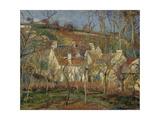 The Red Roofs, Corner of a Village, Winter, 1877 Reproduction procédé giclée par Camille Pissarro