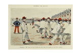 Military Illustration in My 28 Days, 1896, Soldiers Fall Out Giclee Print by Albert Guillaume