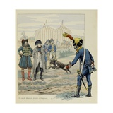Poodle Moustache, Dog Hero of Austerlitz Presented to the Napoleon Reproduction procédé giclée par Jacques de Breville