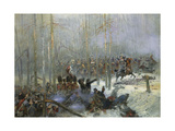 Cuirassier of Colonel Dubois Charging During Battle of Berezina, Nov. 28, 1812 Giclee Print by Edouard Detaille