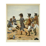 Military Surgeons and Nurses of the Great French Army on the Field after Battle Giclee Print by Louis Bombled