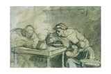 The Soup Giclee Print by Honore Daumier