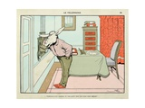 The Phone:Forgive Me, Madame, to Talk in a Place So Neglected, 'Menagerie' Giclee Print by Benjamin Rabier