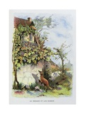 The Fox and the Grapes, La Fontaine's Fables Giclee Print by Gustave Fraipont