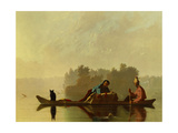 Traders Descending the Missouri, 1845 Giclee Print by George Caleb Bingham