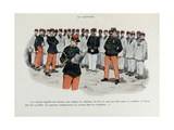 Mes Campagnes, 1896, Soldiers to the Report, Reading of the Colonel Orders Giclee Print by Albert Guillaume