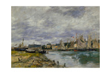 Harbor of Trouville, 1891 Giclee Print by Eugene Louis Boudin