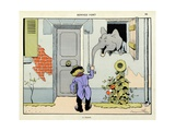 The Distracted: Ring the Bell Hard, 'Menagerie' Giclee Print by Benjamin Rabier