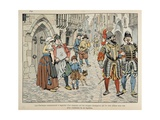 Parisians Take Dim View of Aid from Foreigners Giclee Print by Jacques de Breville