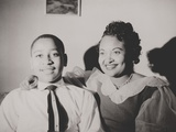 Emmett Till with His Mother, Mamie Bradley, Ca. 1950 Photo