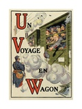 U – V – W: a Travel in Train, Alphabet of War, 1916 Giclee Print by Henri Lanos