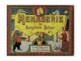 Book Cover of 'Menagerie', La Fontaine's Fables Giclee Print by Benjamin Rabier