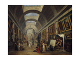 Grand Gallery of the Louvre, 1796 Giclee Print by Hubert Robert
