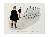 Military Illustration in Mes Campagnes, 1896, Recruits Training to Parade Giclee Print by Albert Guillaume