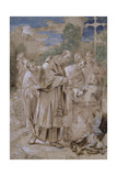 St. Charles Borromeo Baptising a Child Ca. 1590 by Italian Annibale Carracci. Louvre Giclée-tryk af Annibale Carracci