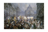 Presentation of Trophies at Senate after Battles of Ulm and Austerlitz, 1806 Giclee Print by Edouard Detaille
