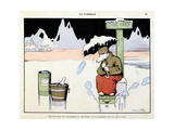 Jackpot: Bear on the Ice, 'Menagerie' Giclee Print by Benjamin Rabier