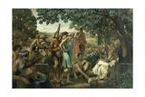 Poet Educating Peasants Giclee Print by Gustave Pierre