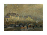 Winter Sun at Paris Giclee Print by Albert Lebourg