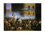 Battle in the Rue De Rohan, July 291830 Giclee Print by Hippolyte Lecomte