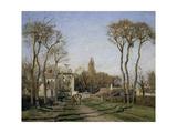Entrance to the Village of Voisins, Yvelines Reproduction procédé giclée par Camille Pissarro