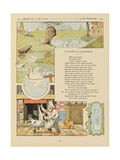 The Swan and the Cook, La Fontaine's Fables Giclee Print by Benjamin Rabier
