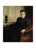 Portrait of Mrs. Louis Pasteur, Ca. 1900 Giclee Print by Albert Edelfelt
