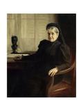 Portrait of Mrs. Louis Pasteur, Ca. 1900 Giclee Print by Albert Edelfelt