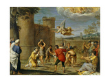 The Stoning of Stephen Giclée-tryk af Annibale Carracci