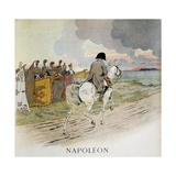 Napoleon Rides before His Troops Giclee Print by Jacques de Breville